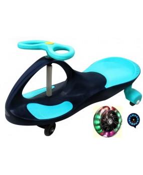 Detské odrážadlo Swing J1 so svietiacimi kolesami modré