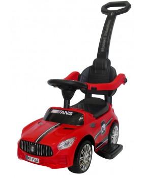 Detské odrážadlo auto J7 s vodiacou tyčou 3v1 červené