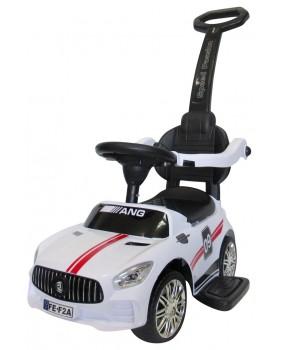 Detské odrážadlo auto J7 s vodiacou tyčou 3v1 biele