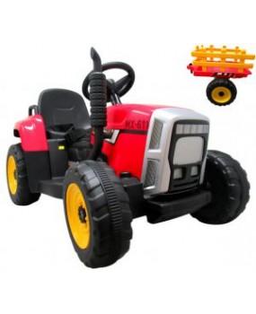 Elektrický traktor s vlečkou R-Sport C1 červený