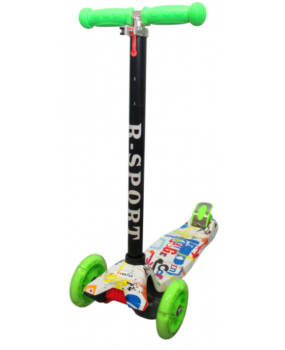 Detská kolobežka R-Sport H2 zelená s LED kolieskami