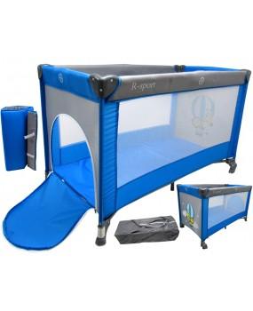 Skladacia cestovná postieľka R-Sport K1 2v1 modrá