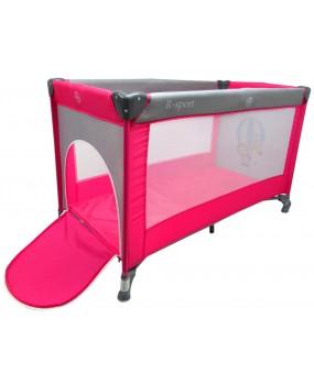 Skladacia cestovná postieľka R-Sport K1 2v1 ružová