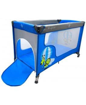 Skladacia cestovná postieľka R-Sport K2 2v1 modrá