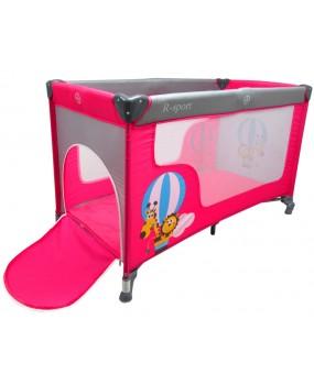 Skladacia cestovná postieľka R-Sport K2 2v1 ružová