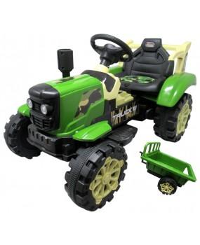 Elektrický traktor s vlečkou R-Sport C2 zelený