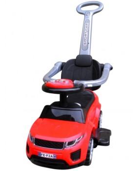 Detské odrážadlo auto J4 s vodiacou tyčou 3v1 červené