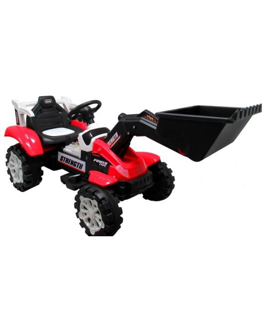 Elektrický buldozér C4 červený