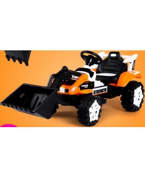 Elektrický buldozér C4 oranžový