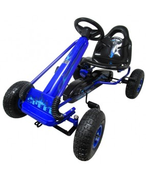 Šľapacia kára G3 nafukovacie kolesá modrá