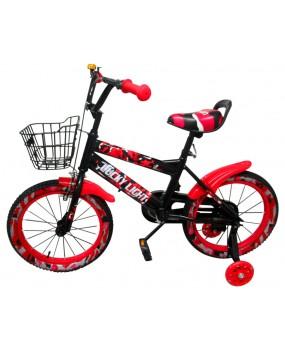 """Detský bicykel s košíkom P3 16"""" kolesá červený"""