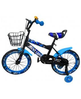 """Detský bicykel s košíkom P3 16"""" kolesá modrý"""