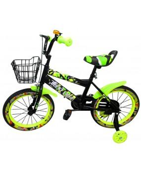 """Detský bicykel s košíkom P3 16"""" kolesá zelený"""