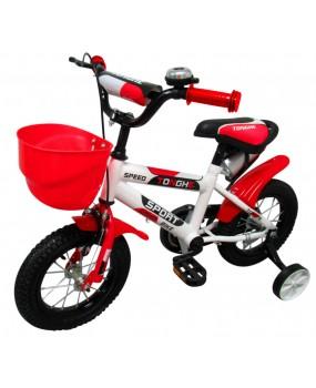 """Detský bicykel s košíkom P4 12"""" kolesá červený"""
