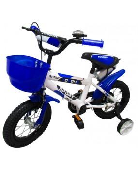 """Detský bicykel s košíkom P4 12"""" kolesá modrý"""