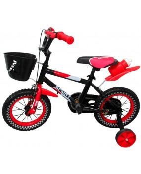 """Detský bicykel s košíkom P6 12"""" kolesá červený"""