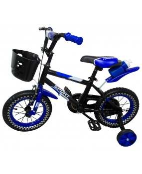 """Detský bicykel s košíkom P6 12"""" kolesá modrý"""