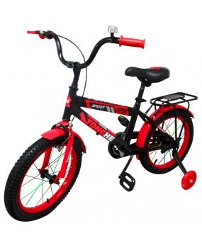 """Detský bicykel P7 16"""" kolesá červený"""