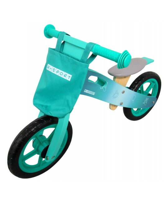 Detské drevené odrážadlo R-Sport R10 tyrkysové