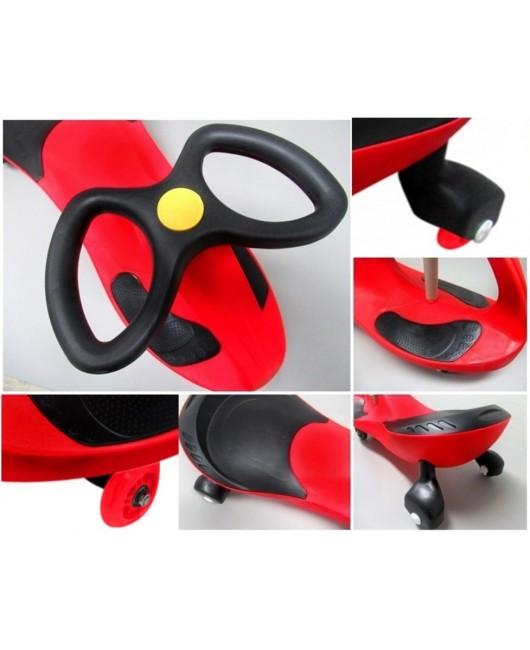 Detské odrážadlo Swing J1 so svietiacimi kolesami červené