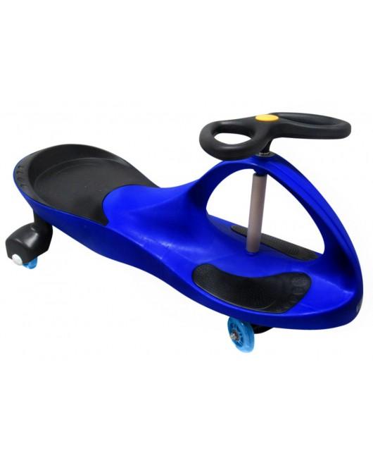 Detské odrážadlo Swing J1 so svietiacimi kolesami modro-čierne