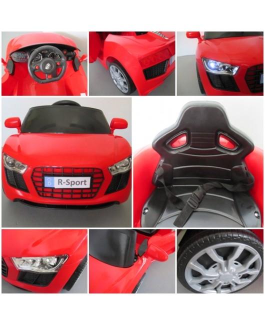 Elektrické autíčko Cabrio AA4 s hojdaním červené