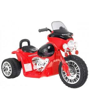 Elektrická policajná motorka Chopper červená