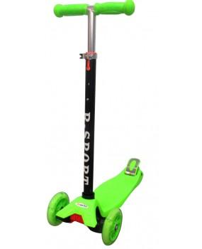 Detská kolobežka R-Sport HM1 zelená s LED kolieskami