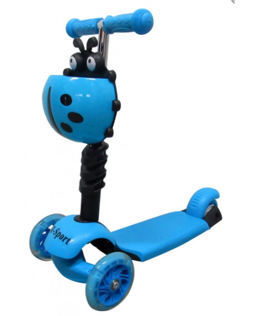 Detská kolobežka R-Sport HM3 modrá 5v1 s LED kolieskami
