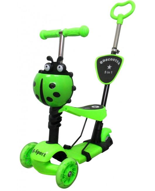 Detská kolobežka R-Sport HM3 zelená 5v1 s LED kolieskami
