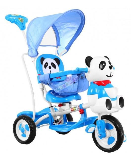 Detská trojkolka Panda modrá