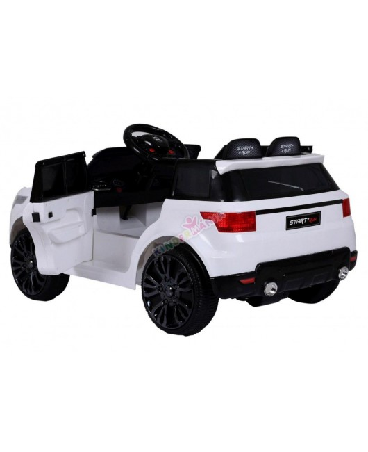 Elektrické autíčko Start Run biele EVA kolesá