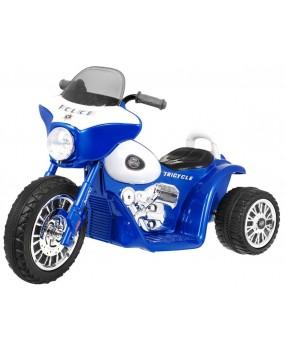 Elektrická policajná motorka Chopper modrá