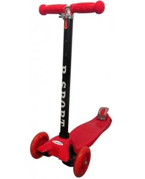 Detská kolobežka R-Sport HM1 červená s LED kolieskami